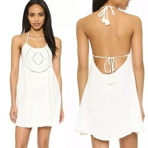 Rory Beca Prine Embroidered White Gauza Boho Dress